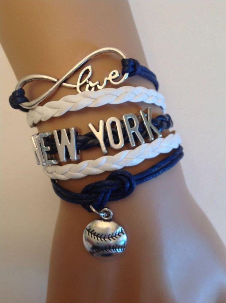 New York #Yankees Bracelet - #MLB Sports Fans - Infinity Charm Bracelet  Us Seller from $10.99