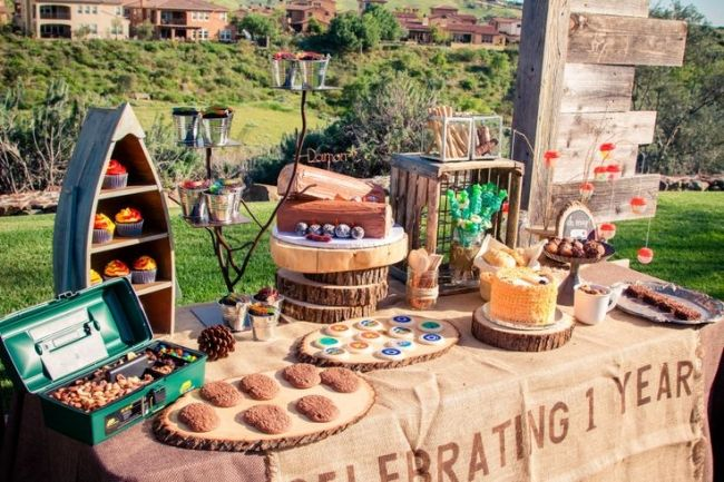 boy's camping themed party ideas