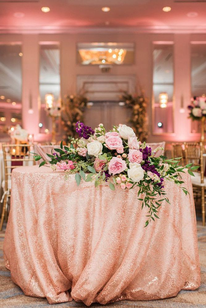 42 Glamorous Rose Gold Wedding Decor Ideas Wedding Decorations
