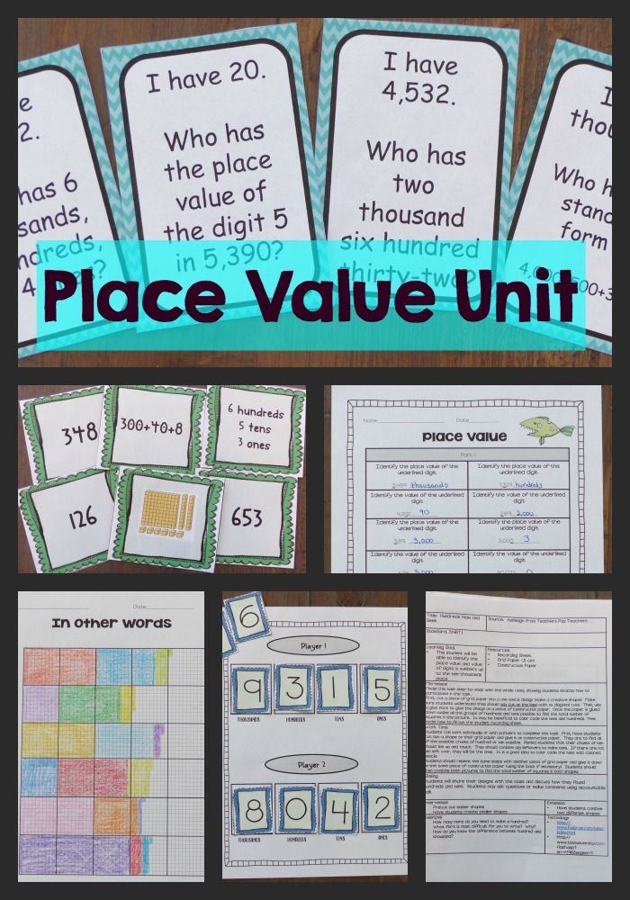 This Place value unit has everything you need to teach place value to your third grade students! It includes detailed lesson plans, performance tasks, task cards, printables, games, and more!