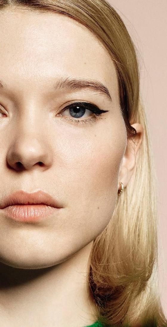 A classic cat-eye winged liner on French beauty Lea Seydoux