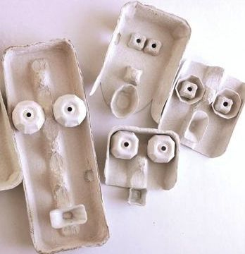 Egg Carton Faces. Gloucestershire Resource Centre http://www.grcltd.org/scrapstore/