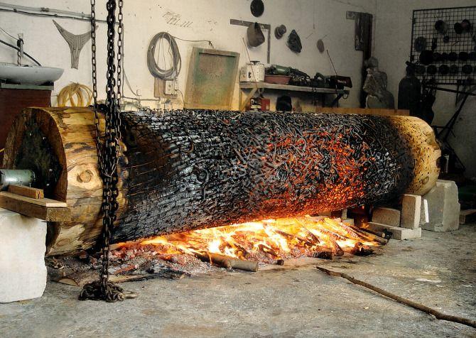 Korean artist Lee Jae Hyo uses wooden logs and stones - Ittzy