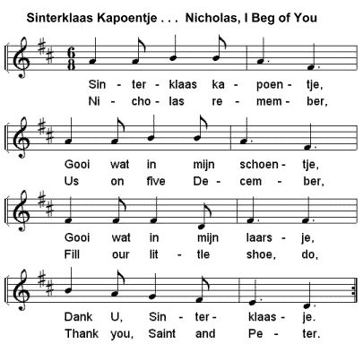 There are a lot of Dutch songs just for Sinterklaas.