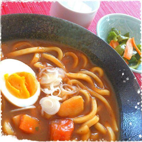 昨日のカレーで簡単カレーうどん♪いつもの定番(^^♪ - 146件のもぐもぐ - ヒガシマルうどんスープで簡単カレーうどん♪ by suzuranranran