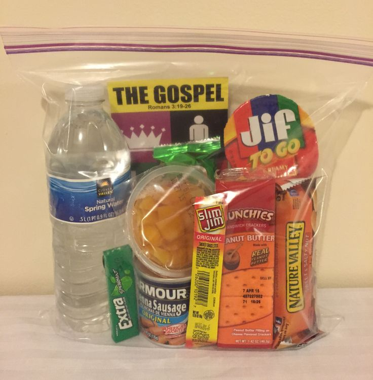 Snack pack and hygiene pack ideas for the homeless