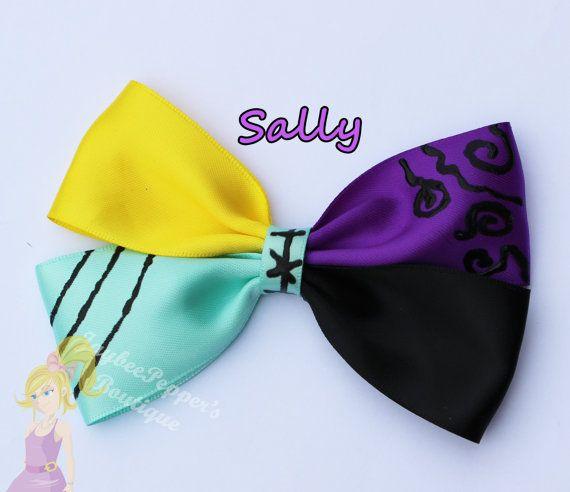 Nightmare before christmas hair bow Sally hair bow Sally hair clip girls cute ragdoll character inspired
