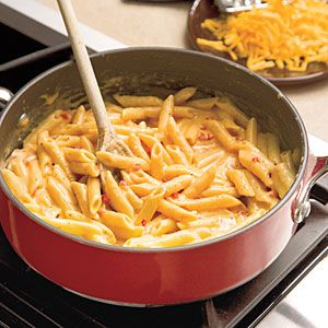 Easy Skillet Pimiento Mac 'n' Cheese   MyRecipes.com