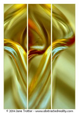 Abstract art to challenge your imagination. 'Tulip' - an abstract photograph created by Jane Trotter. Visit the website abstractedreality.com for the story behind the image. Fine Art Prints available. #abstract #art #photography #creative #triptych