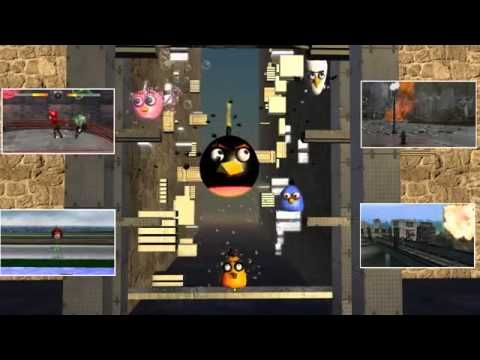 ANGRY BIRDS do JELLY JUMP ♫ 3D animated GAME mashup ☺ FunVideoTV Style