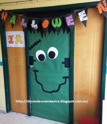 """Rincón de una maestra: Letrero terrorífico de """"Halloween"""""""