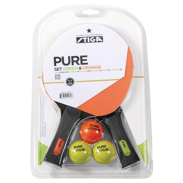 Stiga Pure Player Table Tennis 2 Player Racket Set