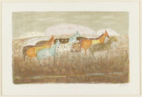 Antonio Zoran Music. Horses Passing By (Cavalli che passano). 1949