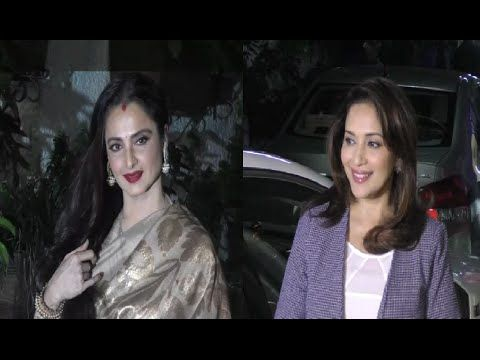 Madhuri Dixit & Rekha at special screening of Bajirao Mastani.
