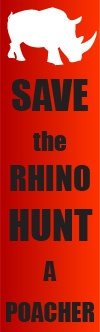 save the rhino's other wise we might not see them again