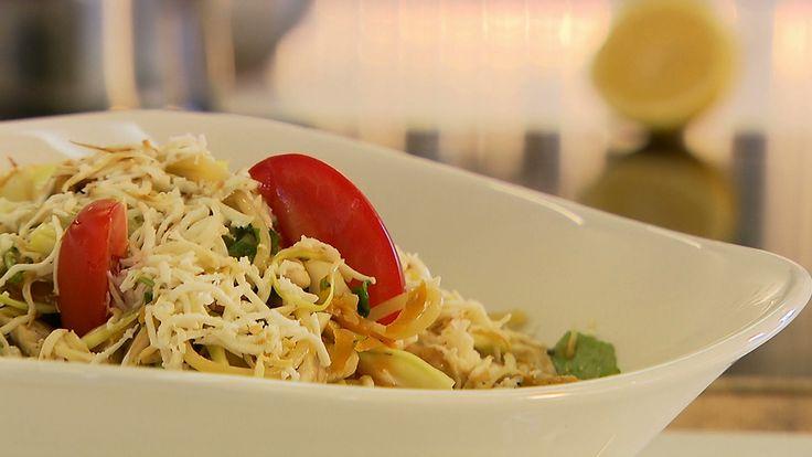 Spagetti zöldséggel, csirkével