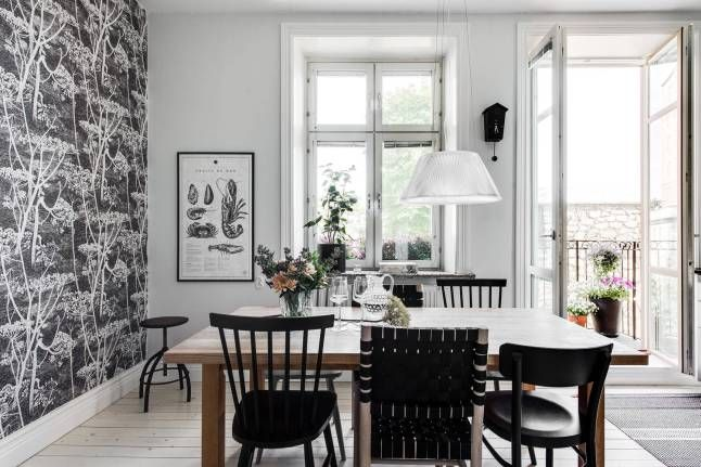 Gris y blanco para una #casa #nórdica espectacular.