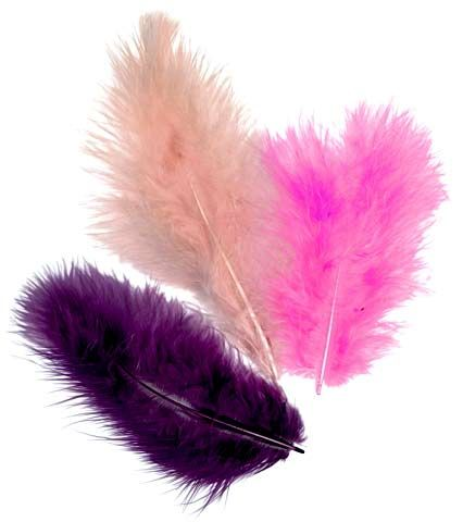 pióra marabuta - zestaw Violett
