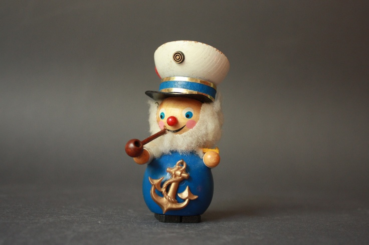 Vintage Sailor  Wooden Figurine Ornament