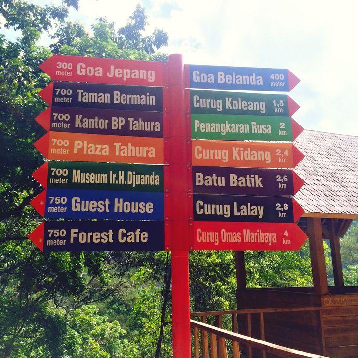 Sign direction taman hutan rakyat
