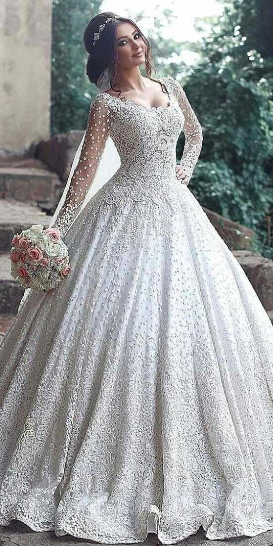Pin By Jennifer Fisher On Casamento Long Sleeve Ball Gown Wedding Dress Ball Gowns Wedding Long Sleeve Bridal Dresses
