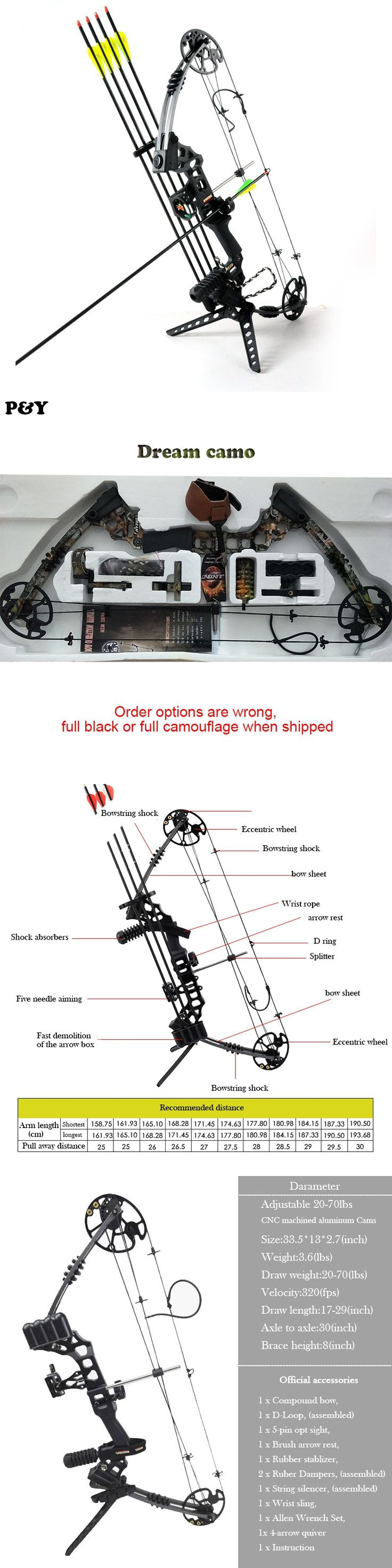 Original Jun Xing Dream Hunting Compound Bow Right and Left Hand Outdoor And Shooting Fishing Bow Archery Arrow Set 2 Color