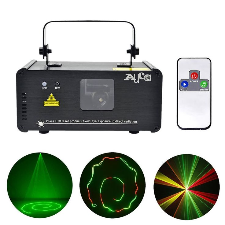 New IR Remote 200mW RGY Laser Stage Lighting 8 CH DMX 512 PRO Scanner DJ Party KTV Show Projector Equipment Light DM-RGY200