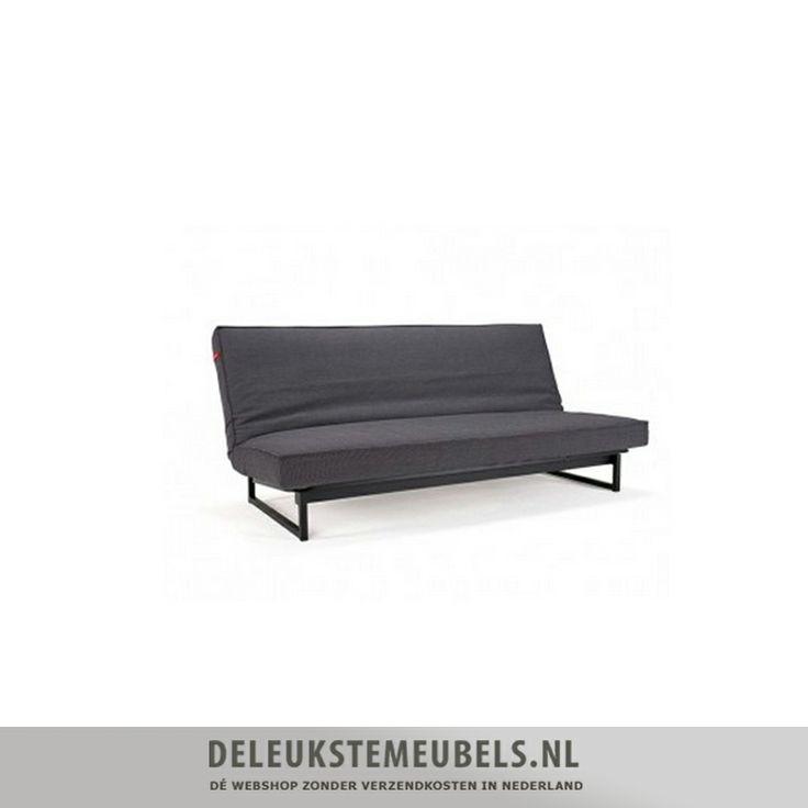 """Deze slaapbank Fraction spring van het merk Innovation uit de One room living collection is ontworpen door """"Per Weiss"""".  De maten van het bed zijn 140x200cm. De zithoogte is 37cm. De rugleuning is eenvoudig in 3 standen te stellen; rechtop, relax en plat als bed. Het Fraction sofa bed is uitgevoerd met een spring pocketvering matras, voor optimaal zit- en ligcomfort. http://www.deleukstemeubels.nl/nl/fraction-spring-363-black-texture/g6/p1643/"""