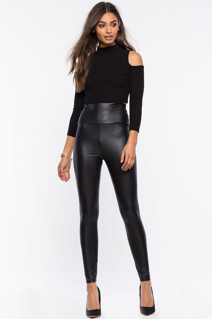 Sexy Faux Leather Leggings : Cute Faux Leather Leggings
