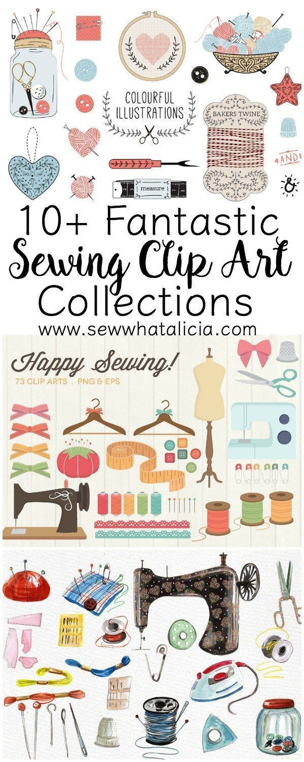 10+ Fantastic Sewing Clip Art Collections   www.sewwhatalicia.com