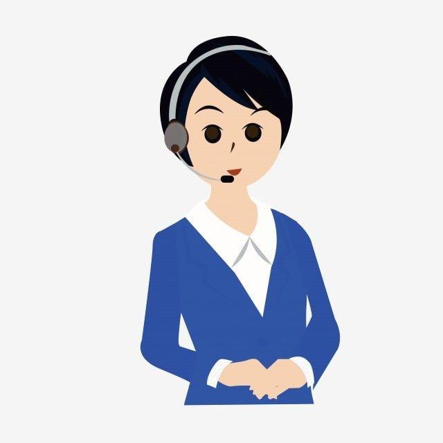 Vector Cartoon Female Customer Service Professional Female Png Free Cartoon Character Service Staff Telephone Customer Service Png And Vector With Transparen Cartoon Clip Art Cartoon Cartoon Characters