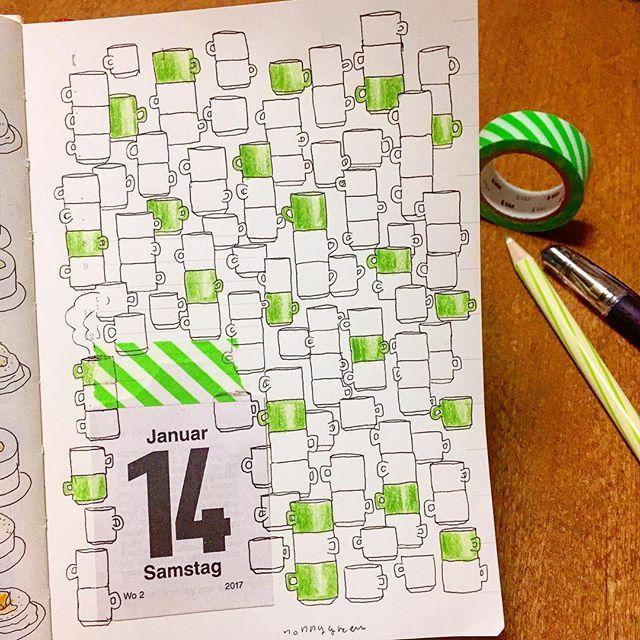 14/365  #ゼンタングル #イラスト #mdノートダイアリー  #マスキングテープ #zentangle #zendoodle #doodle #doodles #drawing #illustration #pattern #art #design #signo #mdnote  #mdnotediary #journal #diary #planner #maskingtape #washitape #マグカップ #mugcup #mug