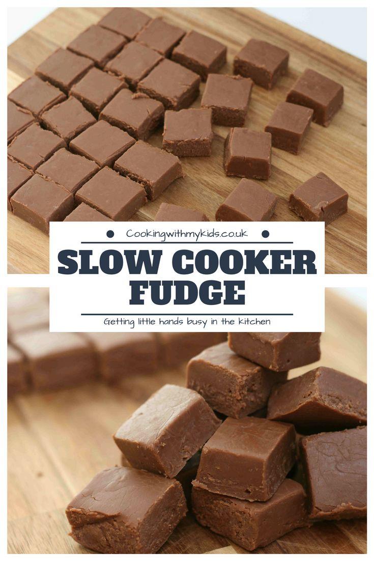Slow Cooker Fudge Easyrecipe Fudge Slowcooker Crockpot Slow Cooker Fudge Slow Cooker Recipes Dessert Slow Cooker Desserts