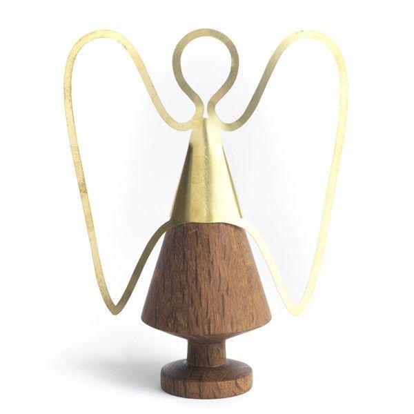 The Oak Men-smoked oak-brass-wooden angel