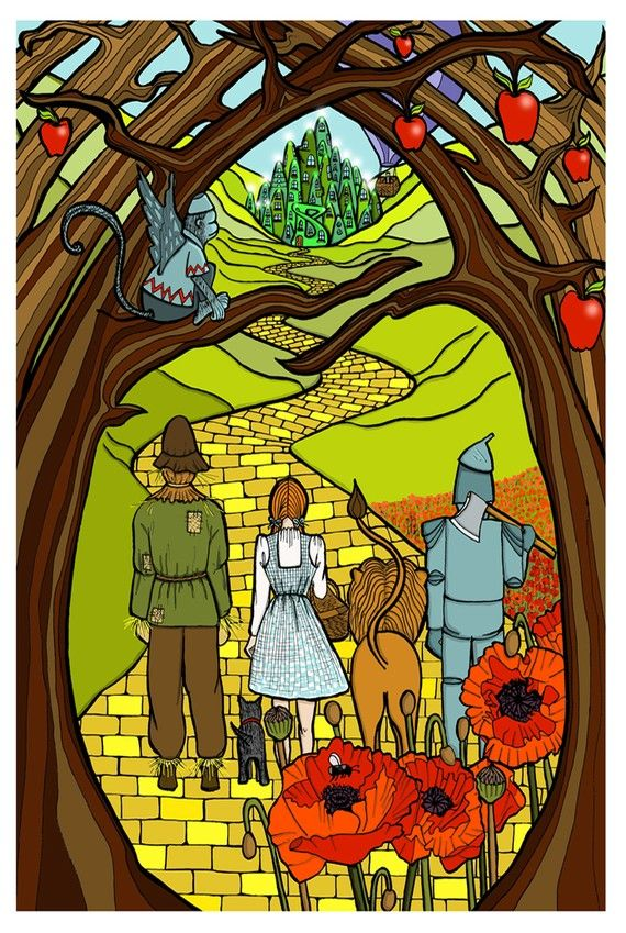 follow the yellow brick road (and don't look round...)