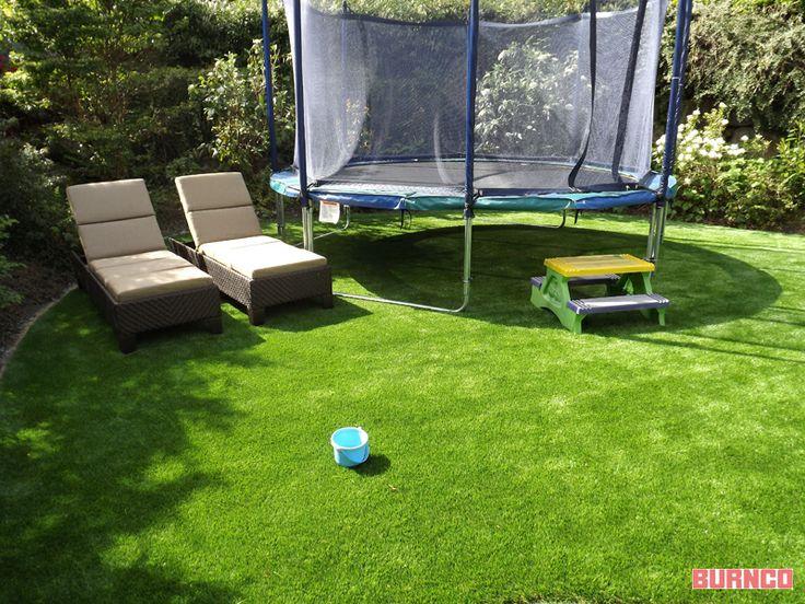 Create your green backyard with artificial turf #BURNCO #backyard #landscaping #artificialturf
