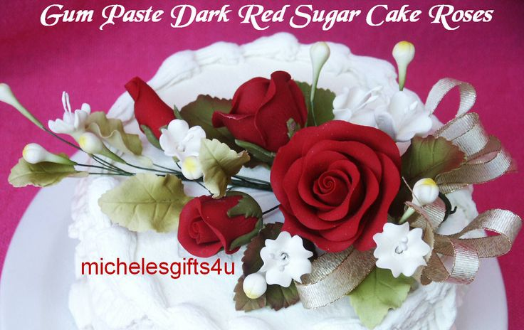 fall gum paste roses - Google Search