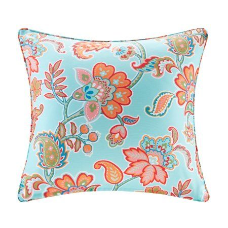 Home Essence Dana Printed Floral 3M Scotchgard Outdoor Pillow, Multicolor