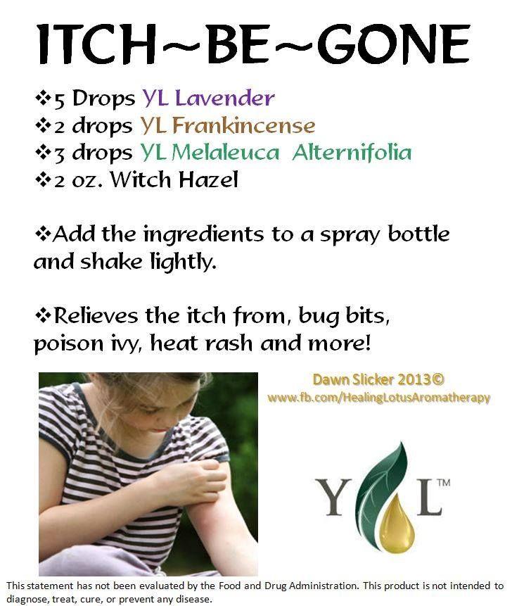 Essential Oils for Itch. For more information go to www.EssentialOilsEnhanceHealth.com