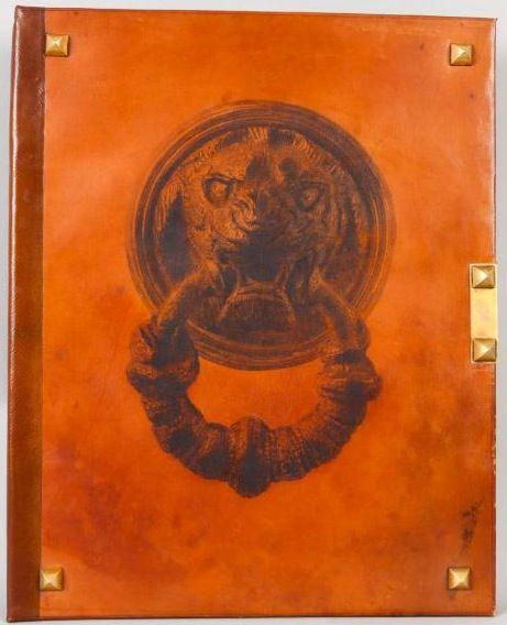 hermes paris purse - HERMES Paris: Camel & Brown Leather Portfolio/Book Of French ...