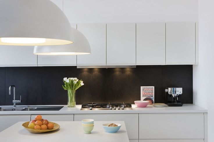 #Kitchen design. Black and white, made-to-measure cabinets