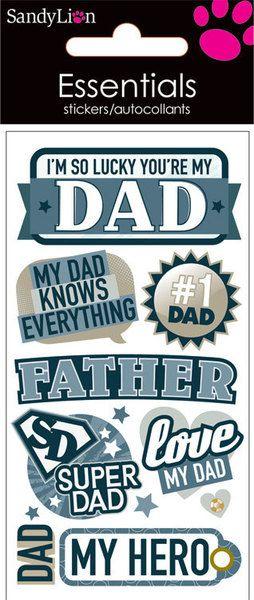 The Best Dad - Scrapbooking Stickers