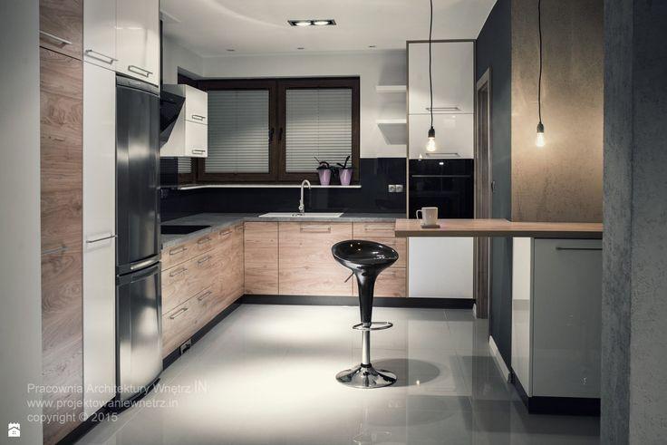 dom w szarościach - zdjęcie od IN projektowanie wnętrz - Kuchnia - Styl Nowoczesny - IN projektowanie wnętrz