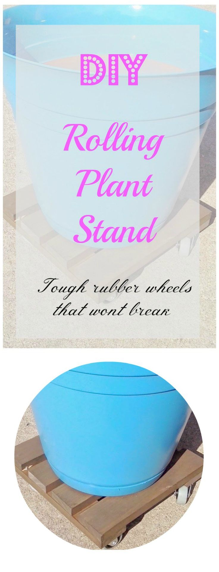 Rolling Plant Stands- A DIY project for everyone!