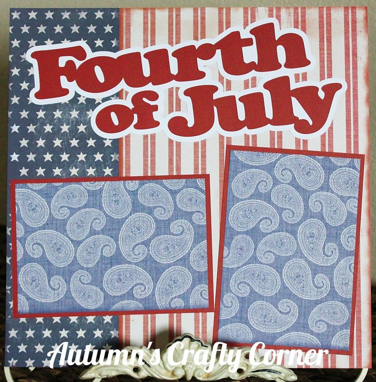 Fourth of July - Basic Premade Scrapbook Page 12x12 Layout