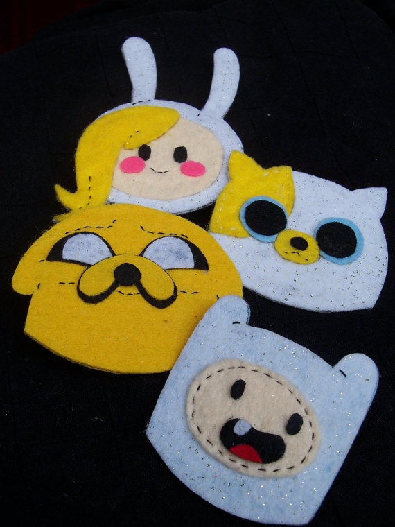 Love these!! <3 felted Adventure Time hair clips