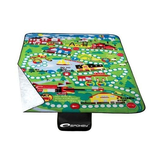 Piknikové deky zelenej farby s motívom mesta
