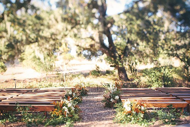 benches for ceremony seating