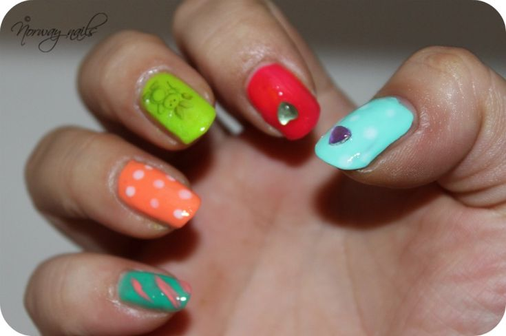 Easter manicure.