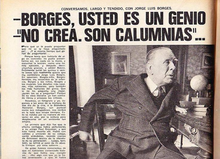 Jorge Luis Borges en el periódico